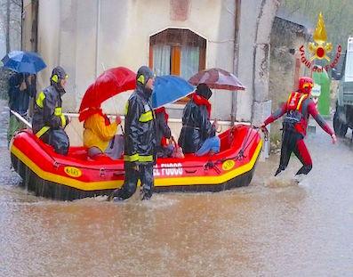 Alluvione Forino gommoni