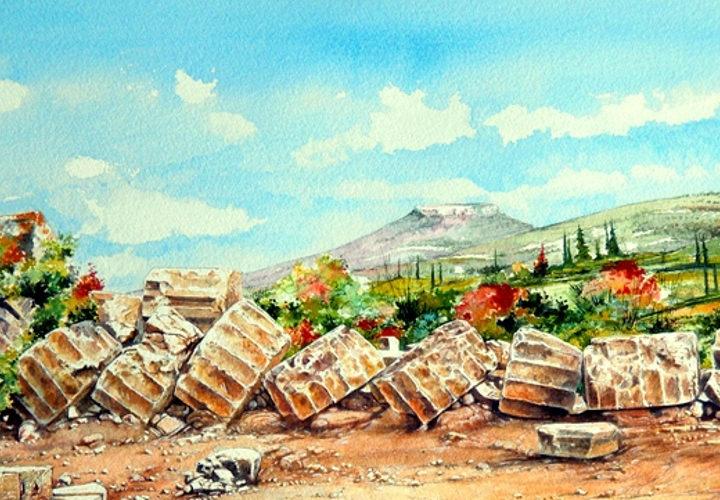 La Grecia delle origini negli acquerelli di Paudice in mostra a Buccino